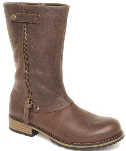 Clarks KELPIE BLAZE Girls Brown Leather Boots 8 - 2 F & G Widths ...