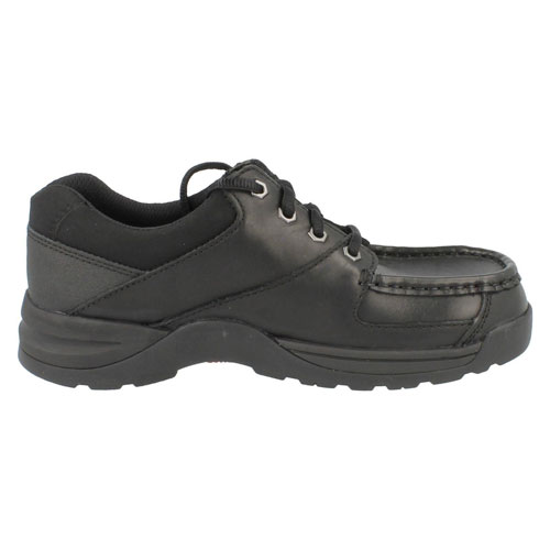 Clarks Boy Black Shoe With Laces