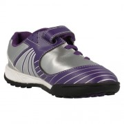 Clarks In Play Silver Purple Front 500
