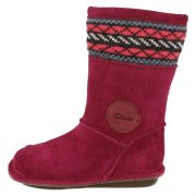 Clarks Snuggle Love Berry Side 500