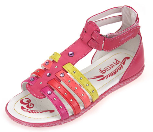 Primigi Ebe Multicoloured Girls Full Leather Sandals