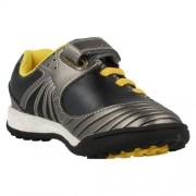 Clarks In Play Black Yellow Front 500