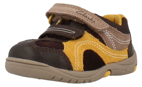 Clarks Ru Rocks Brown Combi Lea 500