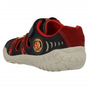 Clarks Stomp Ride Navy Red back