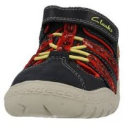 Clarks Stomp Ride Navy Red front
