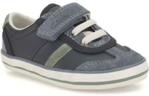 Clarks Little Alf Navy 500