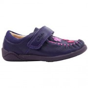Clarks Litzy Evie Purple side 500