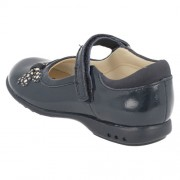 Clarks Trixi Dazzle Navy Patent Heel 500