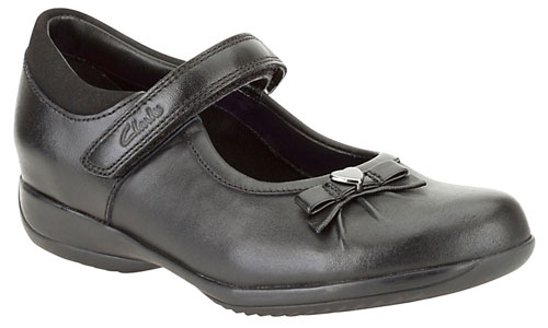 Clarks Daisy Gleam Black Leather 500