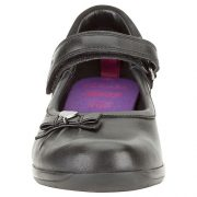 Clarks Daisy Gleam Black Leather Front 500