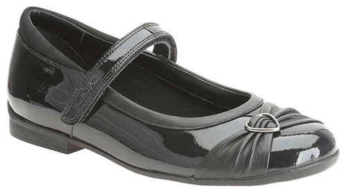 Clarks Dolly Heart Black Patent 500
