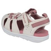 Clarks Beach Fun White Pink Heel 2 500