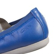 Clarks Dance Brite Blue Leather Heel close 500
