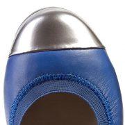Clarks Dance Brite Blue Leather toe close 500