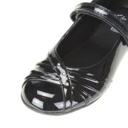 Clarks Dolly Shy Blk Patent Front