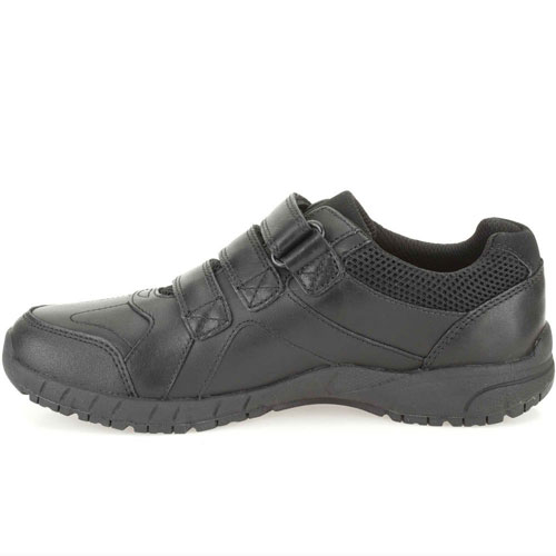 New Clarks Boys Air Learn Black Leather Air Spring FX School Shoes