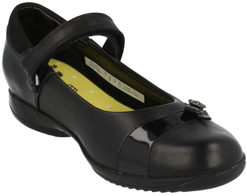 Details about Clarks DAISY BETH BLACK Older Girls Leather School Shoes 13 4 EFGH NEW BOXED