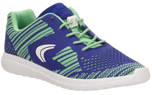 Clarks Sprint Knit Blue Green 500