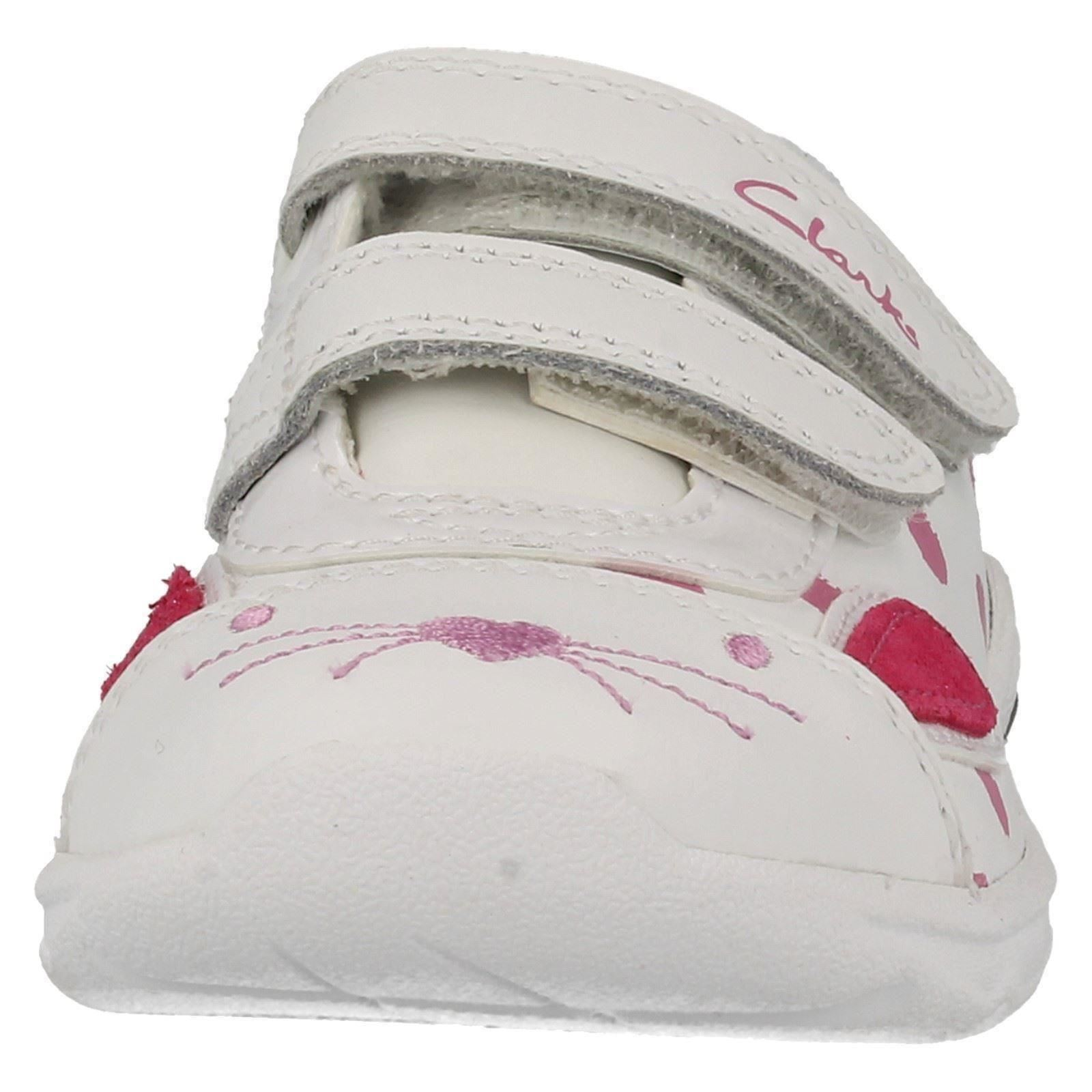 Clarks Shoes Childrens White Trainers
