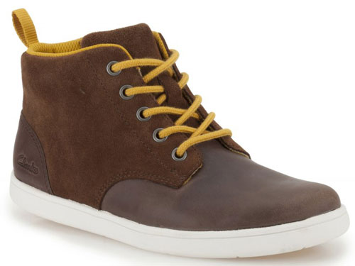 Clarks Holbay Hi Brown 500