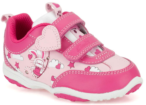 Clarks Giggle Leap Pink 500