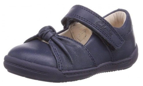 Clarks Softly Nia Navy 500