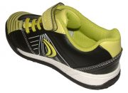 Clarks In Play Black Lime Yellow Heel 500