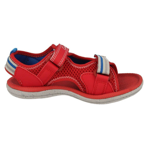 Clarks Piranha Boy Red Shoes For Kids
