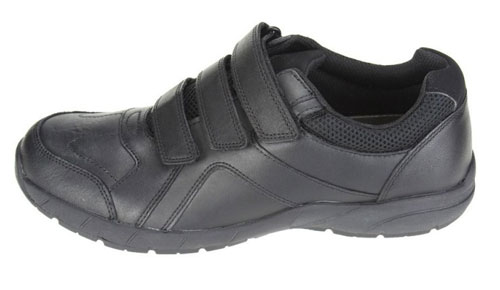 8a692867d Product Details. £29.00. Clarks Air Suffolk – boys black leather school  shoes are a rugged pair ...
