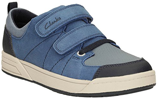 Clarks TOPIC BUZZ BLUE Boys Leather Suede Shoes Trainers 12-1 FG Fit NEW  BOXED d0fb01e2102a