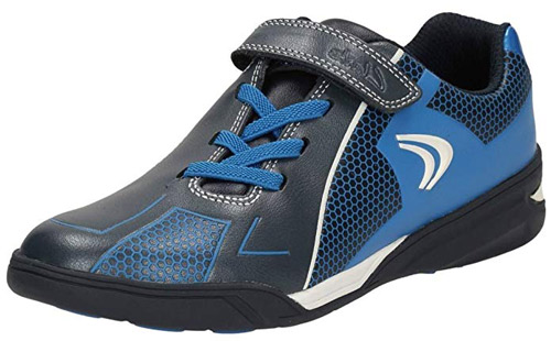 3d36de63bc73 Clarks AWARD LEAP NAVY Boys Leather Washable Trainers Shoes 8 - 3 EFGH Fit  BOXED