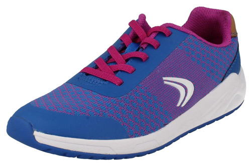 Girls Clarks Frisby Fun Inf /& Jnr Purple Combi Lace Up Trainers