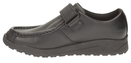 BOOTLEG BY CLARKS BOYS SCHOOL SHOES /'MISTRO GATE/' BLACK LEATHER
