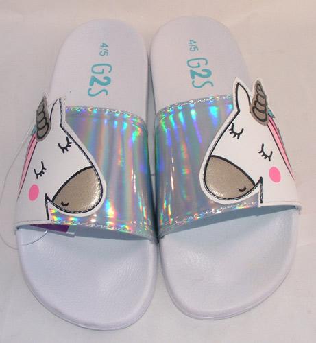 Sizes 9,11,13,2 Buckle My Shoe Girls Unicorn Slipper