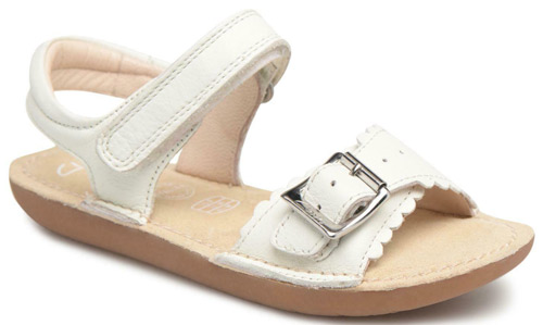 f74bfb5d444 Product Details. £23.00. Clarks Ivy Blossom – girls  sandals in white  leather ...