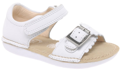 clarks ivy flora leather sandals in white