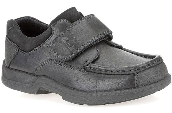 tristeza Rafflesia Arnoldi ángel  Clarks Boys Black Leather Riptape School Shoes CORBETT 11 - 12 FG Fit NEW  BOXED | eBay