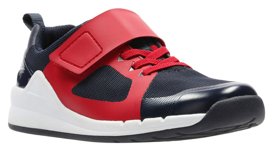 Boys Clarks Orbit Sprint Y Lace Detailed Casual Trainers